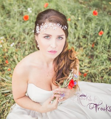 Crystal flower wedding hairvine