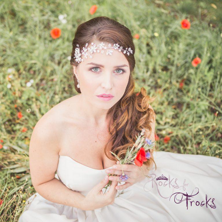 Crystal flower wedding hairvine