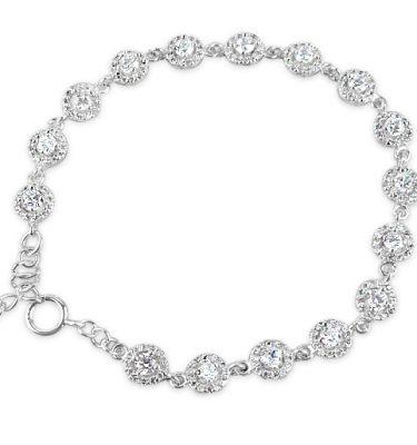 Crystal vintage style circles wedding bracelet