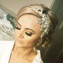 esme Swarovski crystal side wedding headpiece