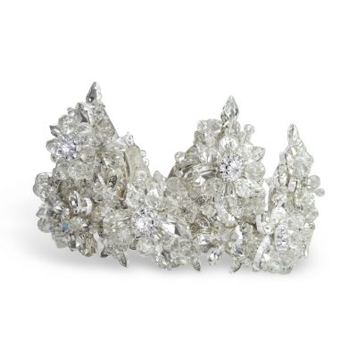 Large Swarovski crystal bridal crown