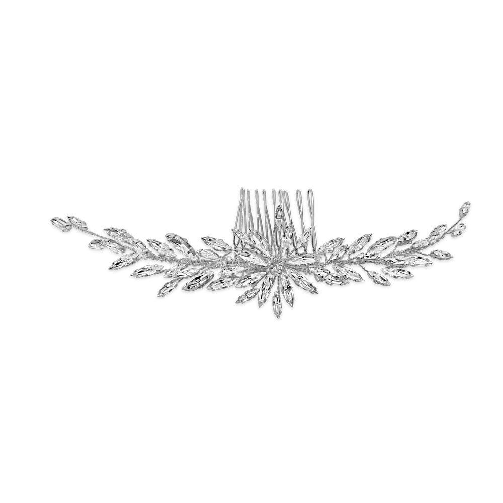 Vintage style Swarovski crystal hair comb for weddings