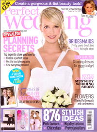 Perfect Wedding ideas magazine, December 09 - Cover shot