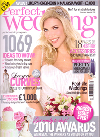 Perfect Wedding ideas magazine, Fashion Special 2010 - Cover shot