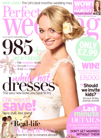 Perfect Wedding magazine July 2010 - Cover shot