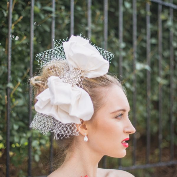 Large silk bow for a bride