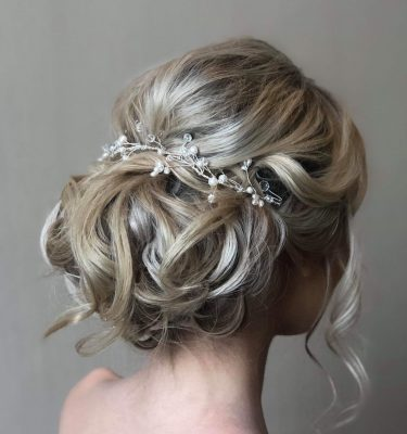 Pearl and crystal hairvine from rocksforfrocks
