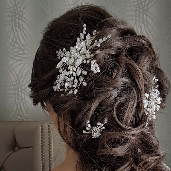 Pearl and crystal bridal Hair comb