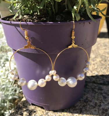 Chukny pearl hoop earrings