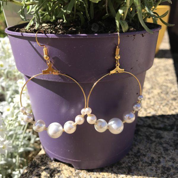 Chukny pearl hoop earrings