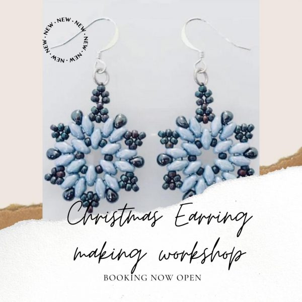 christmas earring workshop